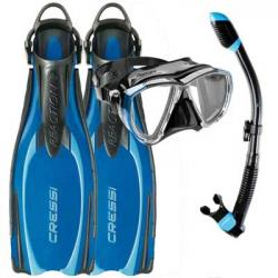 Scuba mask fins and snorkel set packages