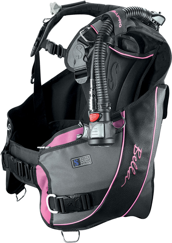 ScubaPro Bella BCD w-Air2 Black-Gray-Pink S