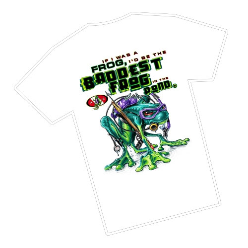 Amphibious Outfitters Baddest Frog T Shirt White