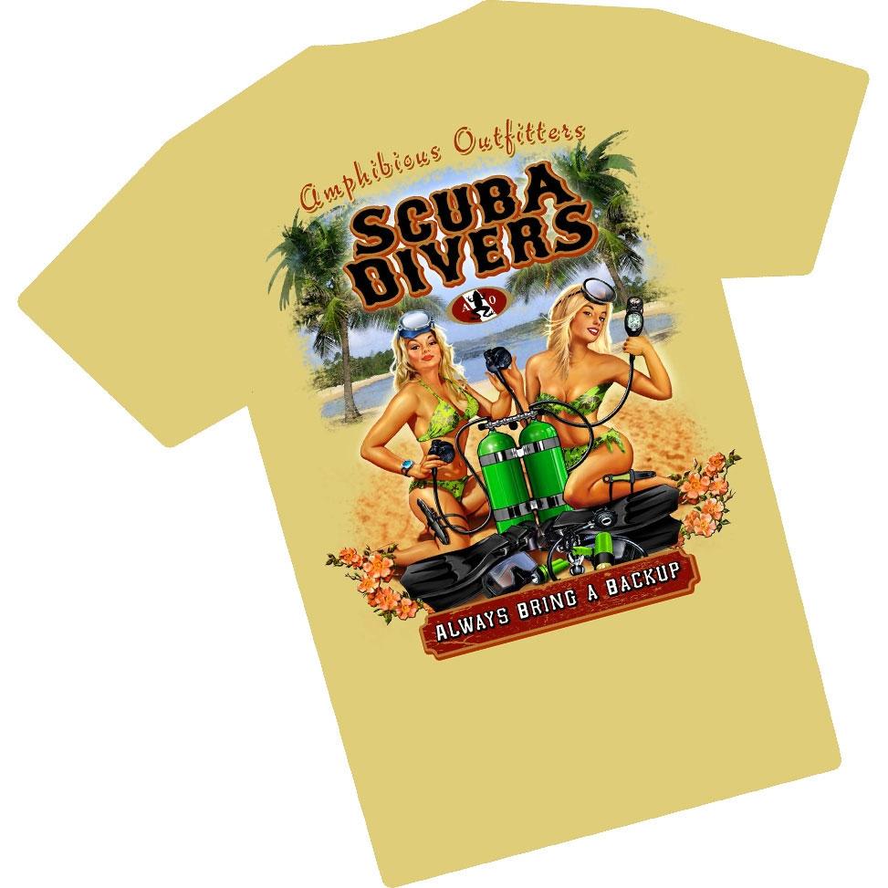 Amphibious Outfitters Back-Up Twins T Shirt Khaki