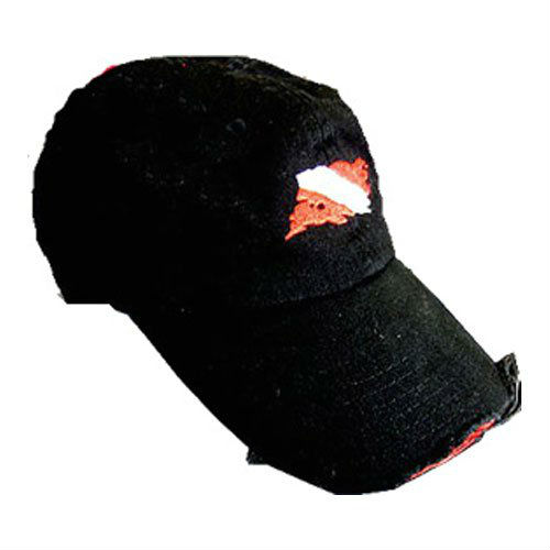 Amphibious Outfitters Ball Cap Distressed Black