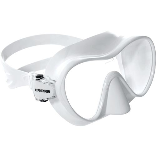 Cressi F2 Frameless Mask Asian Fit White