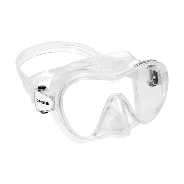 Cressi F2 Frameless Mask Asian Fit Clear