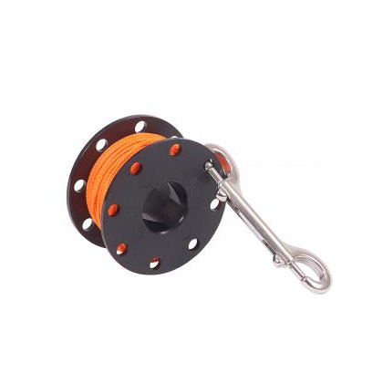 Dive Rite Reel Finger Spool 125Ft 24 Orange Line