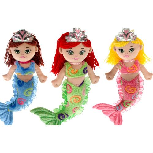 12in Plush Mermaids