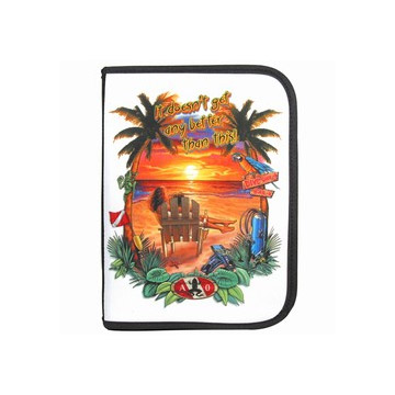 3 Ring Binder Log Book Sunset Beach Insert