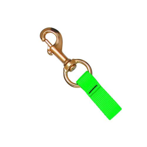 2in Web Loop 4.25in Brass Bolt Snap GN