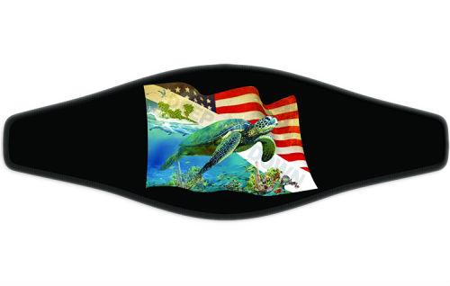 Adj Strap Deep Down Turtle Flag