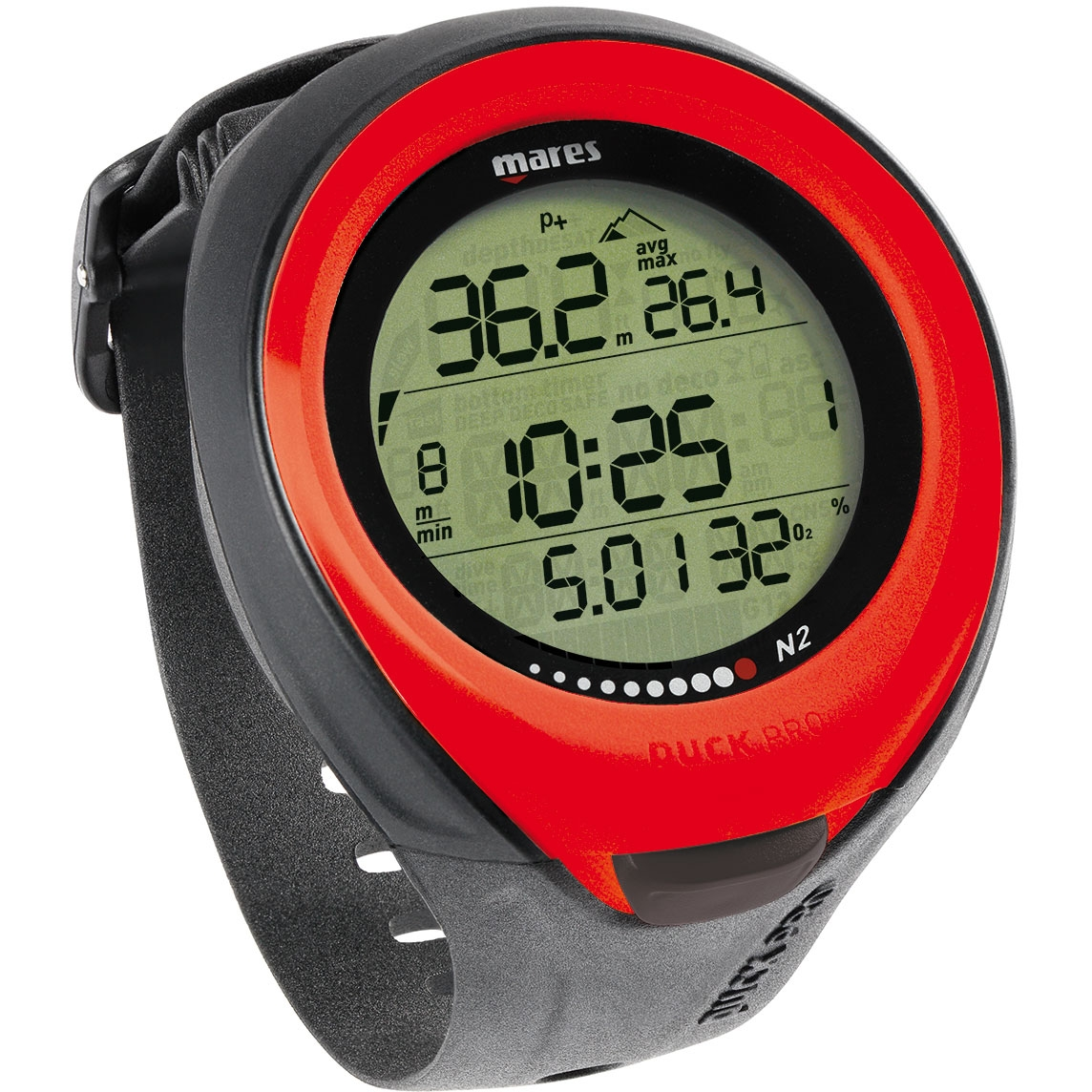 Mares Puck Pro Wrist Dive Computer Red