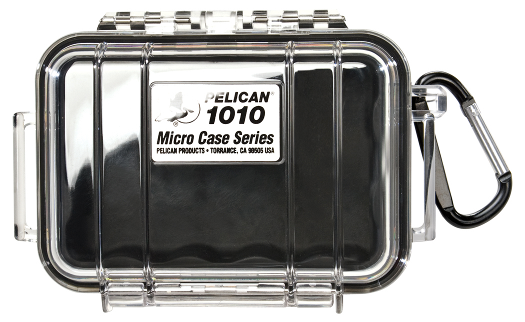 Pelican 1010 Micro Case Black-Clear