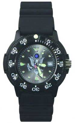 Ram Dive Watch 41100 Series US Army Black Face