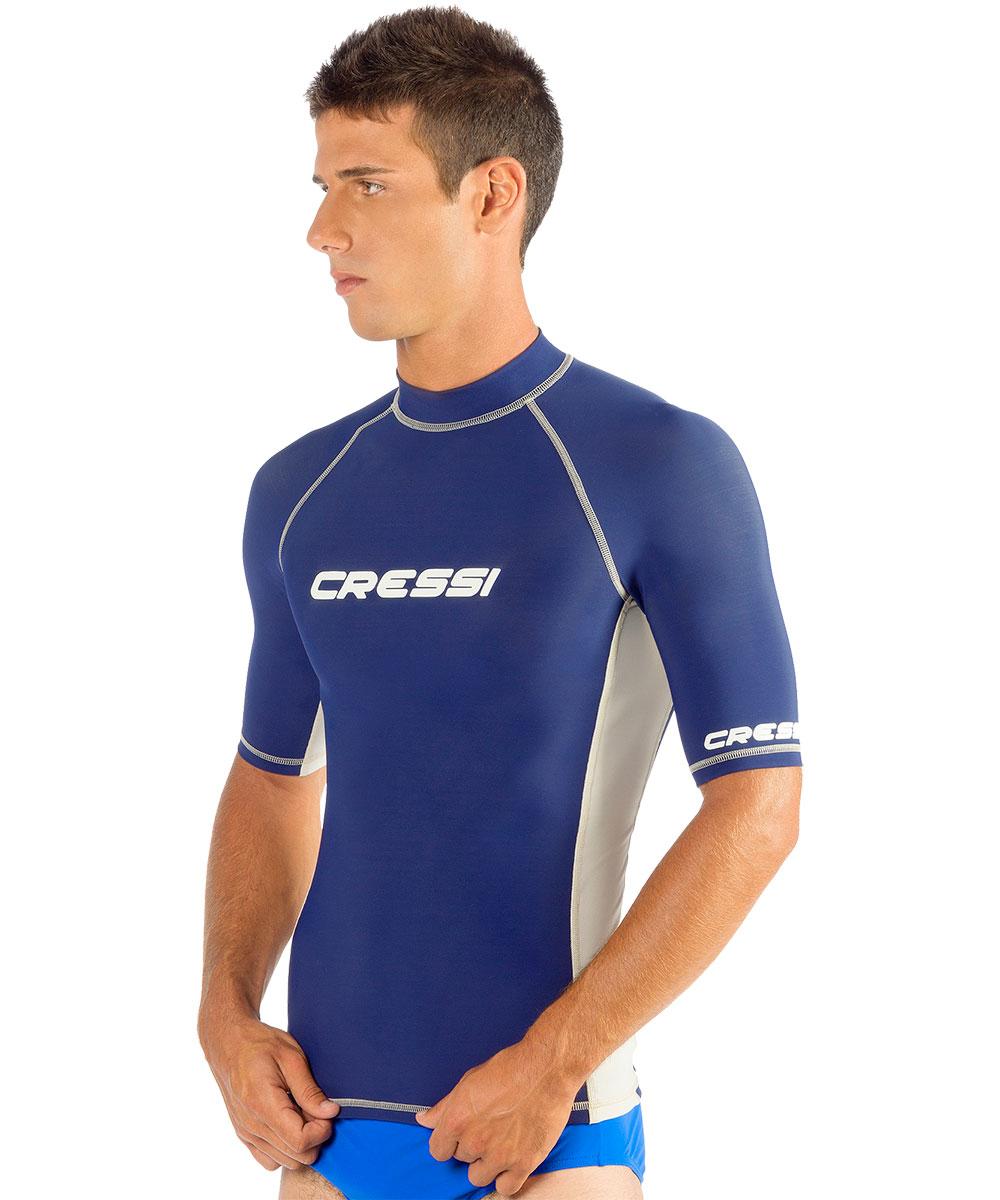 Snorkeling Akona Short Sleeve Rash Guard Scuba Diving Blue