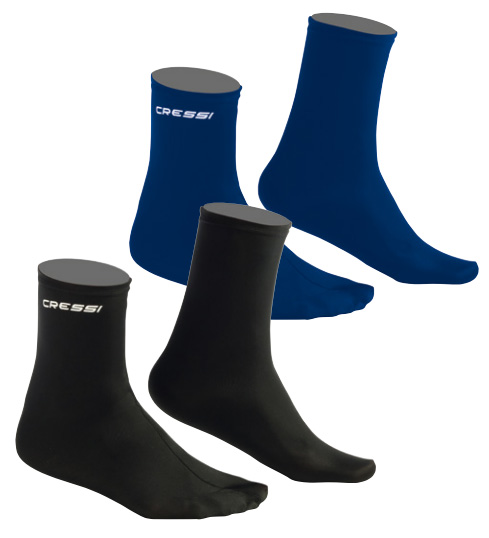 blue Cressi Ultra Stretch Fins Socks S//M
