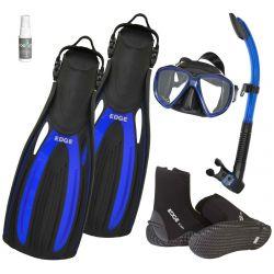 Edge Flex Scuba Mask Snorkel Fins Package