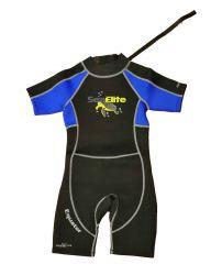 Sea Elite Equator Kids Shorty Wetsuit 3mm Blue-Turtle