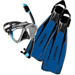 Cressi Pro Light Mask Snorkel Fin Package