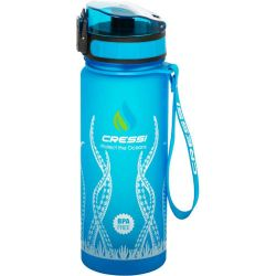 Cressi H2O Frosted Bottle 600 ml Blue Octopus