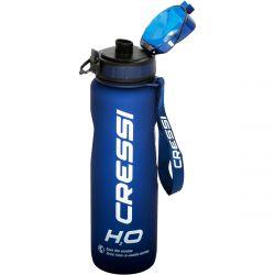 Cressi H2O Frosted Bottle 1L Blue