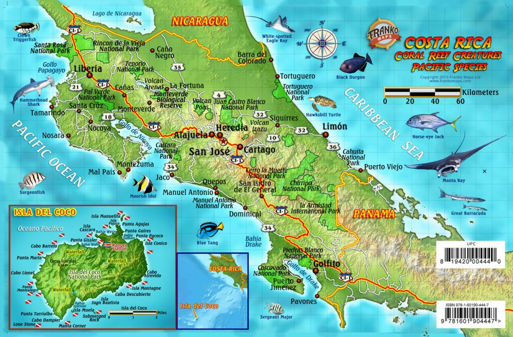 Franko Maps Costa Rica Pacific Reef Species