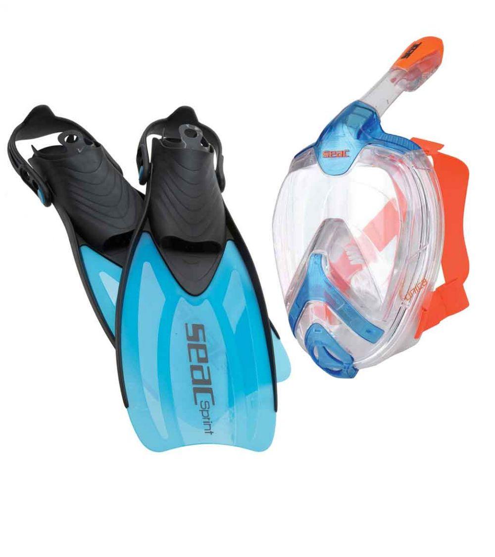 SEAC Unica Full-Face Mask /& Sprint Fins Set