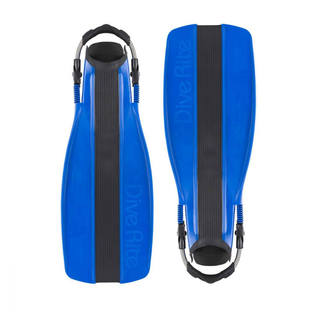 Dive Rite XT Fins Blue Large SS Strap w//Swivel Buckle