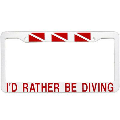 CALIFORNIA I/'D RATHER BE IN License Plate Frame