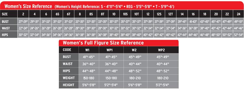 Henderson Women's Size Chart