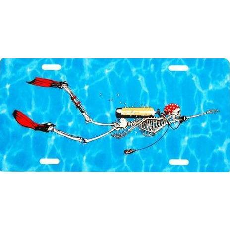 Metal License Plate SD Bone Diver