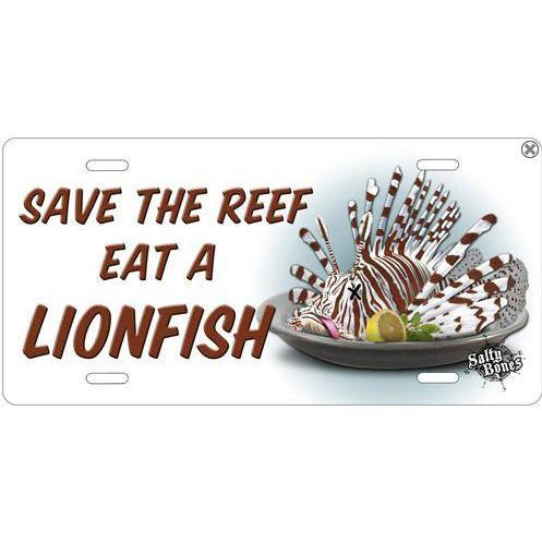 Metal License Plate Lionfish