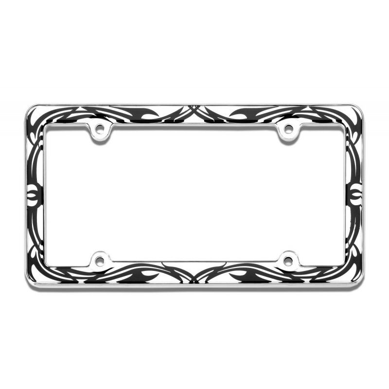 Chrome License Frame Palm Tree
