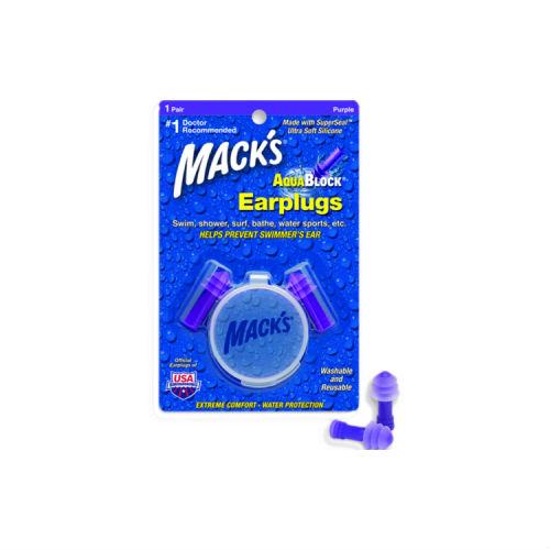 Macks Aqua Block Ear Plugs Purple