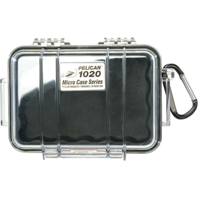 Pelican 1020 Micro Case Black-Clear