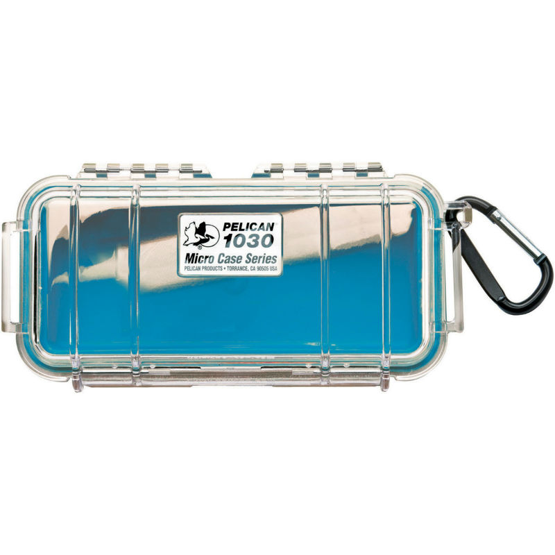 Pelican 1030 Micro Case Blue-Clear