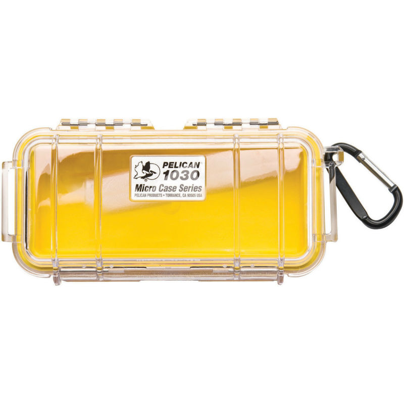 Pelican 1030 Micro Case Yellow-Clear