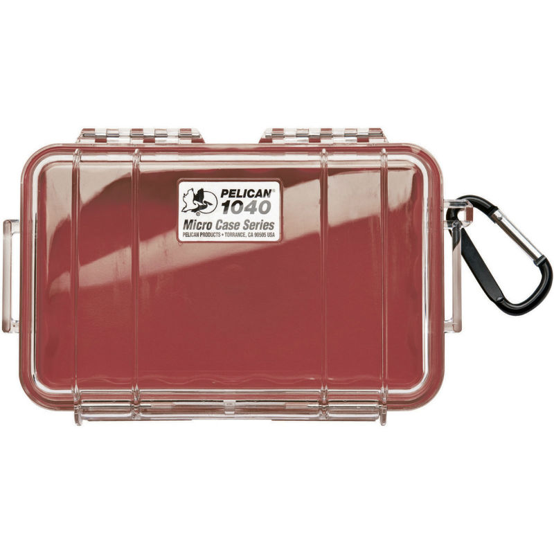 Pelican 1040 Micro Case Red-Clear