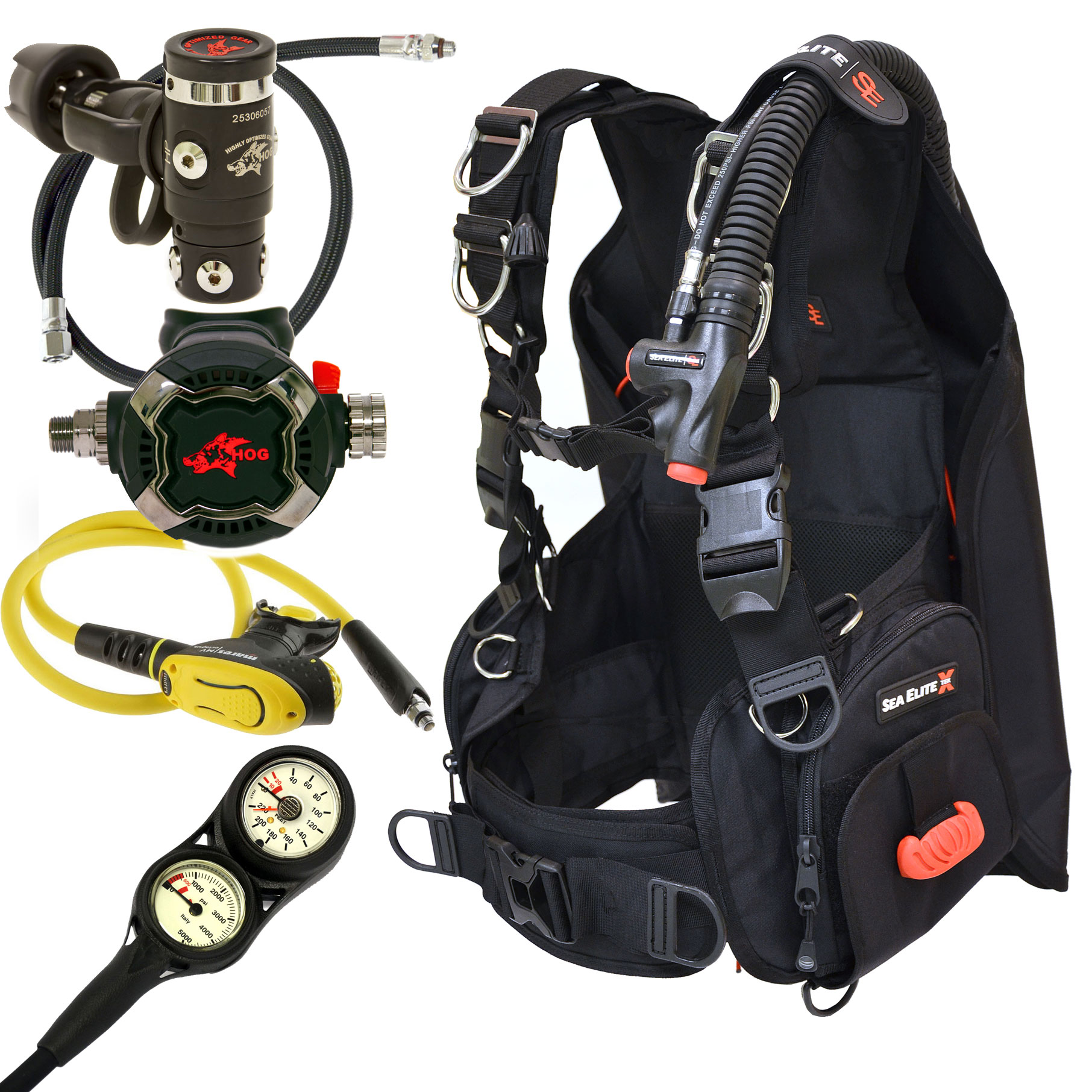 HOG Zenith Back Inflate Tek X Scuba Package