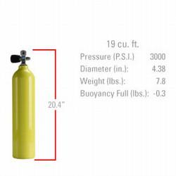 Catalina Aluminum 19 Tank Yellow w Valve