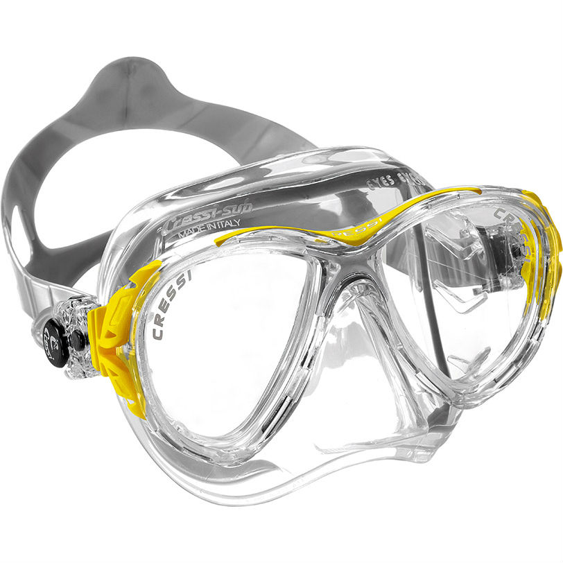 Cressi Eyes Evolution Crystal Mask Yellow