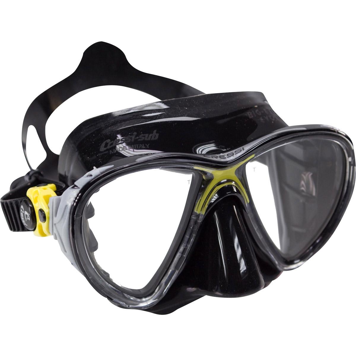 Cressi Eyes Evolution Black Mask  Yellow