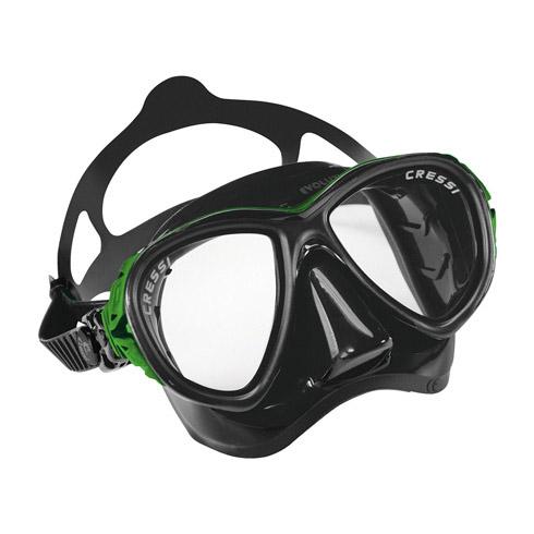 Cressi Eyes Evolution Black Mask Green