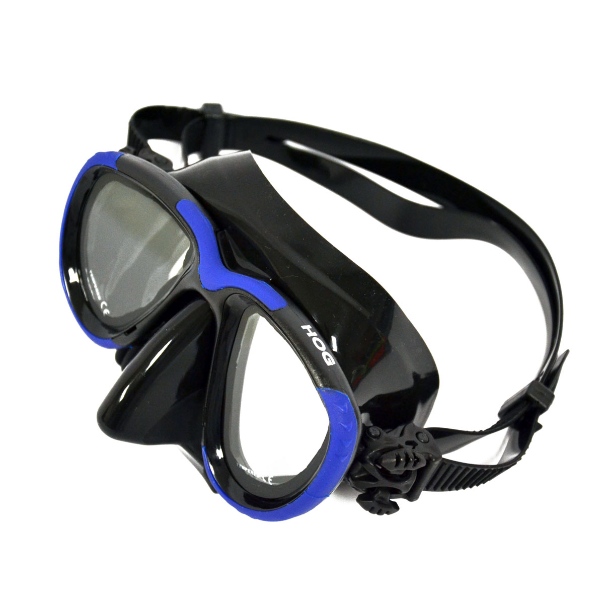 Hog Low Profile 2 Window Tech Mask Blk Blue