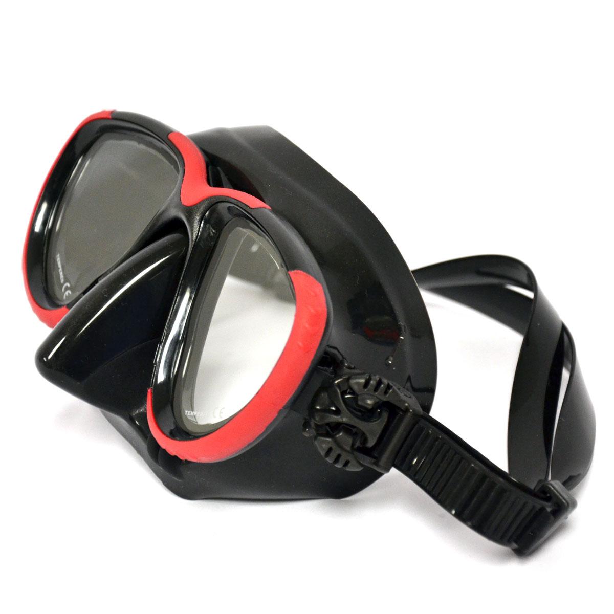 Hog Low Profile 2 Window Tech Mask Blk Red