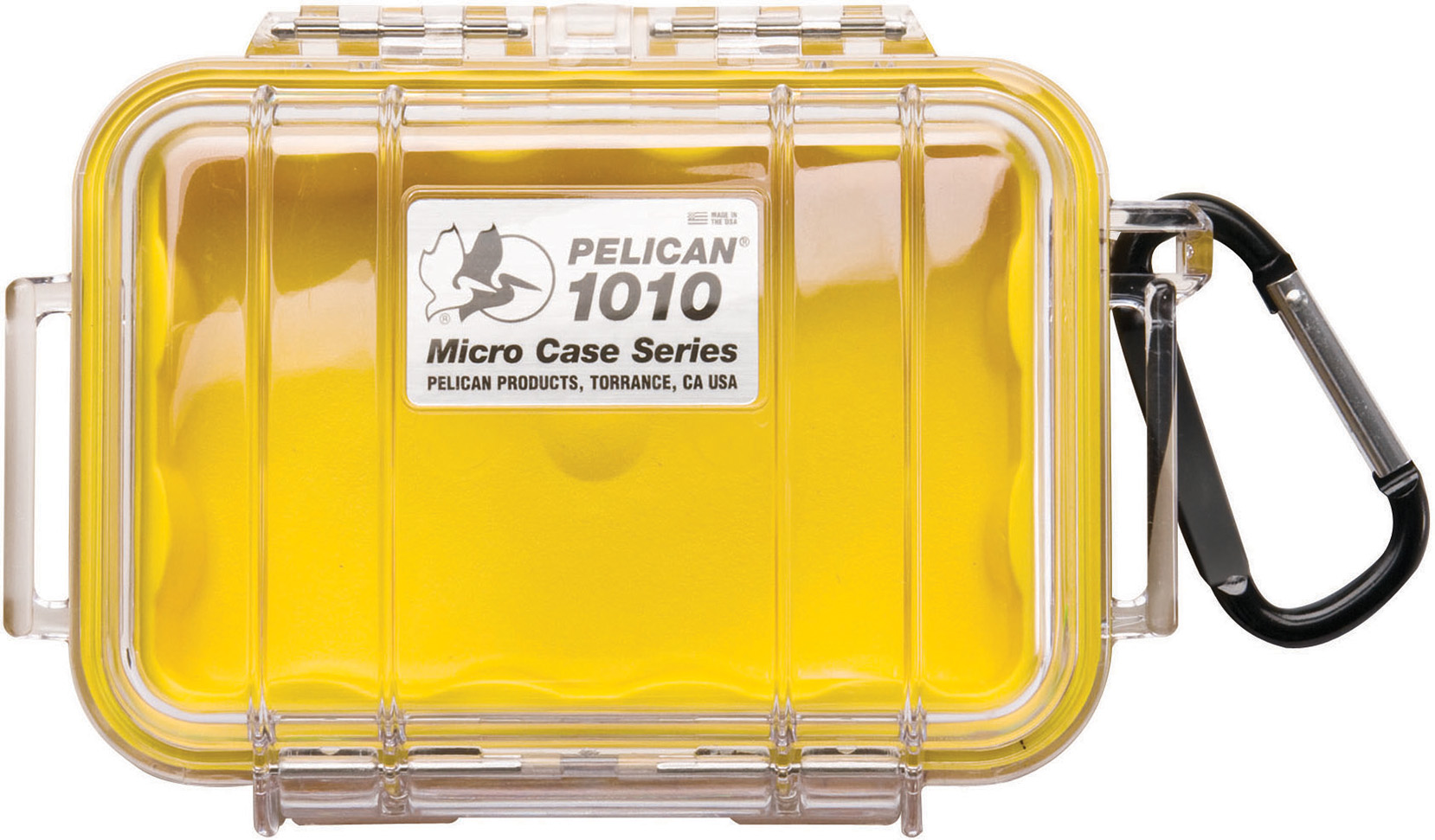 Pelican 1010 Micro Case Yellow-Clear