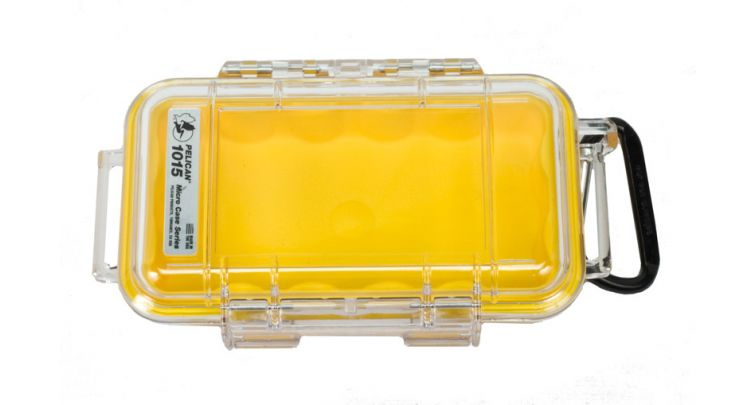 Pelican 1015 Micro Case Yellow-Clear