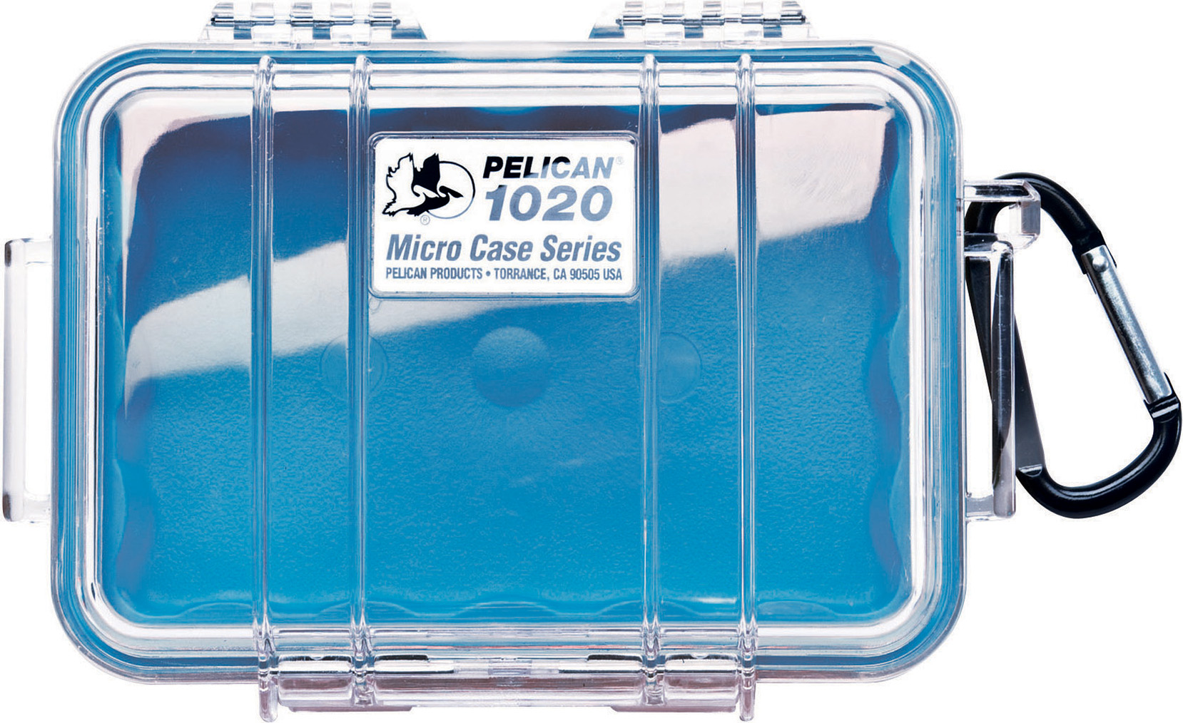 Pelican 1020 Micro Case Blue-Clear