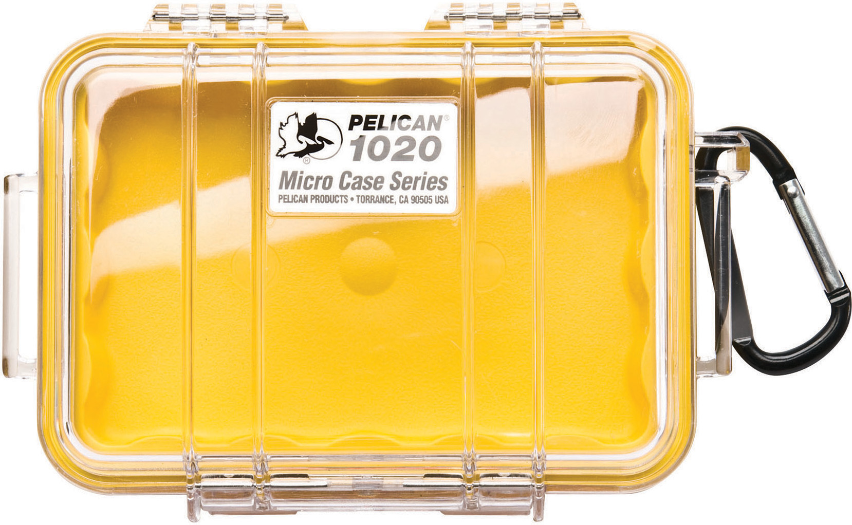 Pelican 1020 Micro Case Yellow-Clear