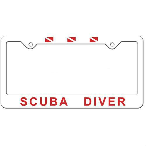 Plastic License Plate Frame Scuba Diver