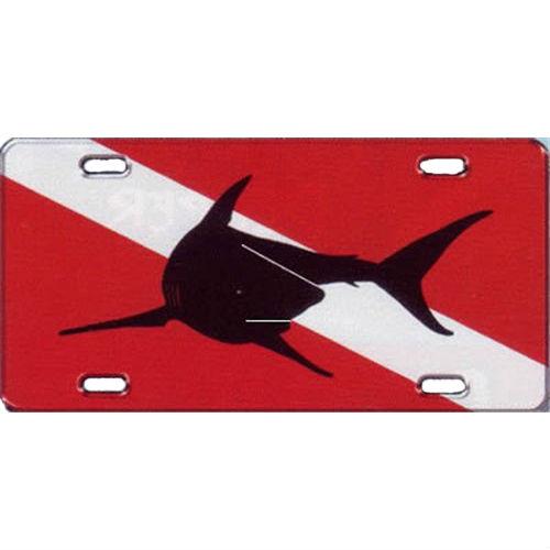 Metal License Plate Shark