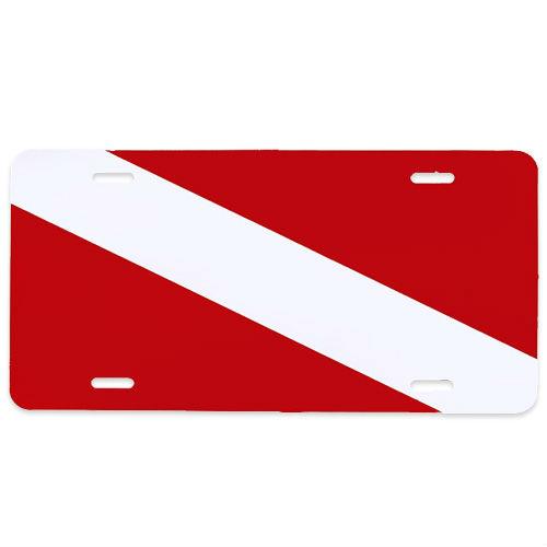 Metal License Plate Dive Flag