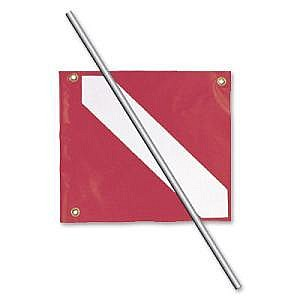 Trident 14x16 Dive Flag And Pole